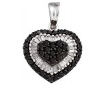 Diamond Heart Pendant 14K White Gold 1.09 cts. GD-51611