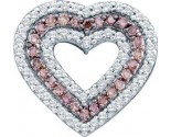 Diamond Heart Pendant 14K White Gold 0.76 cts. GD-51758