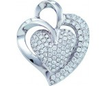 Diamond Heart Pendant 14K White Gold 1.00 ct. GD-53886