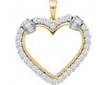 Diamond Heart Pendant 14K Yellow Gold 1.00 ct. GD-53891