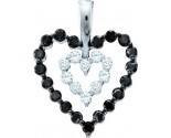 Diamond Heart Pendant 14K White Gold 0.68 cts. GD-54198