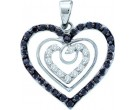 Diamond Heart Pendant 14K White Gold 0.62 cts. GD-54203