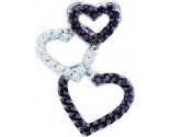 Diamond Heart Pendant 14K White Gold 0.27 cts. GD-54853