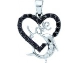 Diamond Heart Pendant 14K White Gold 0.41 cts. GD-54855