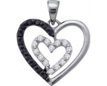 Diamond Heart Pendant 14K White Gold 0.48 cts. GD-54856