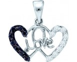 Diamond Heart Pendant 14K White Gold 0.22 cts. GD-54861