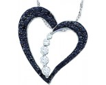 Diamond Heart Pendant 10K White Gold 0.50 cts. GD-57457