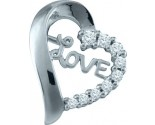 Diamond Heart Pendant 10K White Gold 0.25 cts. GD-58759