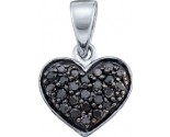 Diamond Heart Pendant 10K White Gold 0.24 cts. GD-60152