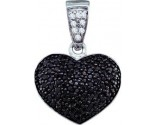 Diamond Heart Pendant 10K White Gold 0.55 cts. GD-60162