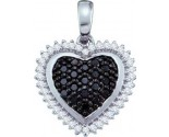 Diamond Heart Pendant 10K White Gold 0.32 cts. GD-60199