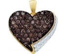 Diamond Heart Pendant 10K Yellow Gold 0.75 cts. GD-60230