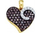 Diamond Heart Pendant 10K Yellow Gold 0.85 cts. GD-60229