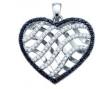 Diamond Heart Pendant 10K White Gold 1.00 ct. GD-60381