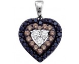 Diamond Heart Pendant 14K White Gold 0.50 cts. GD-67367