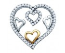 Diamond Heart Pendant 10K White Gold 0.20 cts. GD-67753