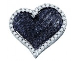 Diamond Heart Pendant 10K White Gold 0.77 cts. GD-72215