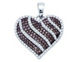 Diamond Heart Pendant 10K White Gold 1.05 cts. GD-72247