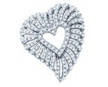 Diamond Heart Pendant 10K White Gold 0.77 cts. GD-72271