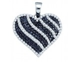Diamond Heart Pendant 10K White Gold 1.00 ct. GD-72332
