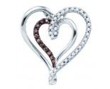 Diamond Heart Pendant 10K White Gold 0.25 cts. GD-72567