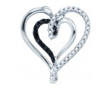Diamond Heart Pendant 10K White Gold 0.24 cts. GD-72568