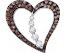 Diamond Heart Pendant 10K White Gold 0.51 cts. GD-74442