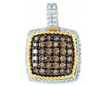 Brown Diamond Fashion Pendant 10K Yellow Gold 0.82 cts. GD-81619