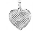 Diamond Heart Pendant 10K White Gold GS-15719