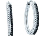 Diamond Hoop Earrings 14K White Gold 0.51 cts. GD-53140