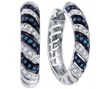 Diamond Hoop Fashion Earrings 10K White Gold 0.50 cts. GD-65962
