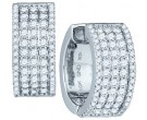 Diamond Hoop Fashion Earrings 10K White Gold 1.67 cts. GD-77434