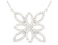 14K White Gold Diamond Necklace 0.90 cts. A78-NL0003