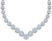 Diamond Necklace 14K White Gold 5.00 ct. GD-41713