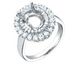 Diamond Semi Mount 14K White Gold 0.90 cts. S55-10