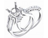 Diamond Two Piece Semi Mount 18K White Gold 0.85 cts. S56-10