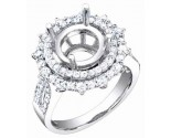Diamond Semi Mount 18K White Gold 0.95 cts. S56-11