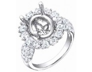 Diamond Semi Mount 18K White Gold 1.90 cts. S56-2