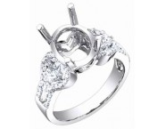 Diamond Semi Mount 18K White Gold 0.50 cts. S56-3