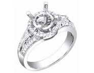 Diamond Semi Mount 18K White Gold 0.45 cts. S56-5 [S56-5]