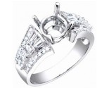 Diamond Semi Mount 18K White Gold 0.85 cts. S56-6