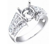 Diamond Semi Mount 18K White Gold 0.85 cts. S56-6 [S56-6]