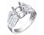 Diamond Semi Mount 18K White Gold 0.50 cts. S56-7