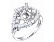 Diamond Semi Mount 18K White Gold 1.00 cts. S56-8 [S56-8]