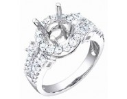 Diamond Semi Mount 18K White Gold 1.10 cts. S56-9 [S56-9]