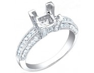 Diamond Semi Mount 18K White Gold 0.55 cts. S57-10