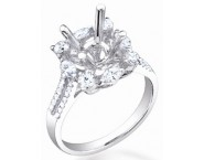 Diamond Semi Mount 18K White Gold 0.85 cts. S57-3