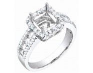 Diamond Semi Mount 18K White Gold 0.85 cts. S57-5