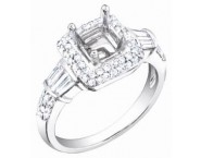 Diamond Semi Mount 18K White Gold 0.70 cts. S57-6 [S57-6]