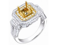 Diamond Semi Mount 18K Two Tone Gold 0.80 cts. S57-7